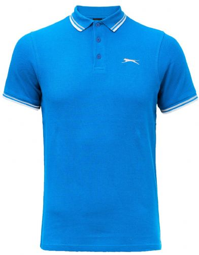 SLAZENGER  TIPPED POLO SHIRT - BLUE
